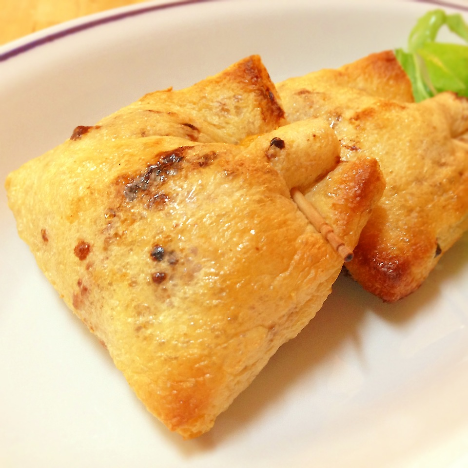 納豆ピリ辛チーズの油揚げ